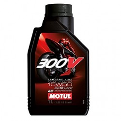 Motul 300V 15W 50 1l. Syntetický olej pro motocykly.