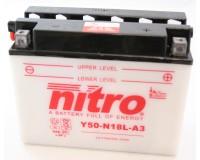 Baterie NITRO Y50-N18L-A3 na motorku
