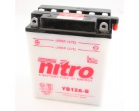 Baterie NITRO YB12A-B na motorku