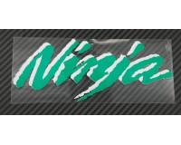 Samolepka Ninja 3M, reflexní, zelená.