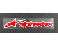 Nálepka Alpinestars, reflexní, 3M, červená.