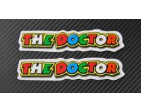 Samolepka Rossi, The Doctor, bílá.