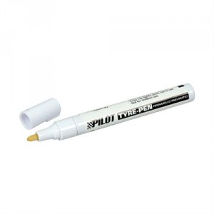 Bílá tužka na pneumatiky, Tyre Pen White.