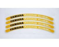 Reflexní proužky na kola Yamaha racing wheel, žluté