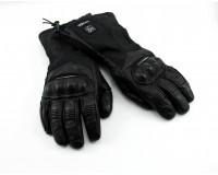 Zimní, kožené, nepromokavé rukavice na motorku V QUATTRO