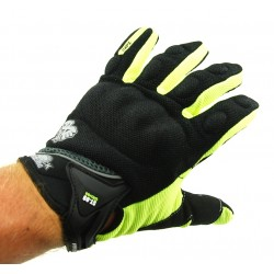 Rukavice SHOCK ST-03 na motorku Black/Green