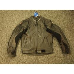 Kožená bunda na motorku D fakto, černá.