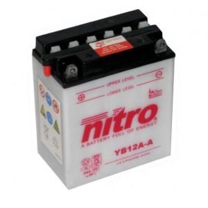 Baterie NITRO YB12A-A na motorku