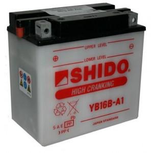 Baterie SHIDO YB16B-A1/S na motorku