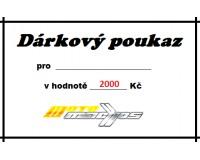 Dárkový poukaz 2000 Kč.