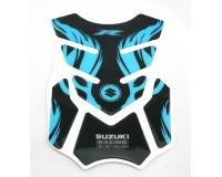 Tankpad na motorku Suzuki R- modrý.