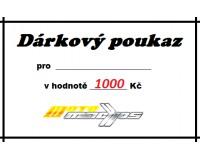 Dárkový poukaz 1000 Kč.