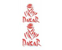 Samolepka Dakar, červená