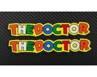 Samolepka Rossi, The Doctor, žlutá.