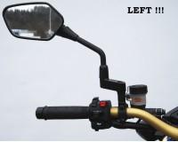 Zozšíření zrcátek o  40 mm,závit  M10, levý, na motorku.