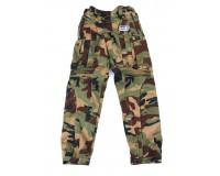 Textilní kalhoty na motorku LUPO - army