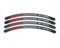 Reflexní proužky na kola Honda racing wheel, černé.