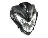 Přední světlo RAPTOR na motorku.