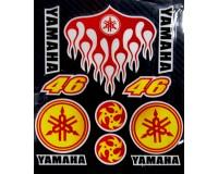 Reflexní nálepky Rossi 46 Yamaha