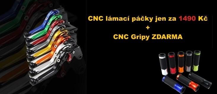 Výsuvné lámací CNC páčky
