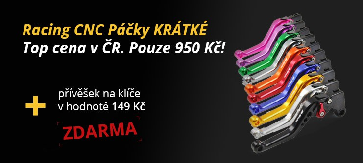 Racing CNC Páčky KRÁTKÉ
